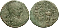 Ancient Coins - Phoenicia, Berytus. Elagabalus. A.D. 218-222. Æ 25 mm. Fine, green patina.