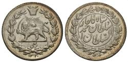 World Coins - Iran, Qajar Dynasty. Sultan Ahmad Shah. AH 1330. 1/4 kran. Choice AU.