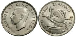 World Coins - New Zealand. George VI. 1943. 1 shilling. BU, lustrous.