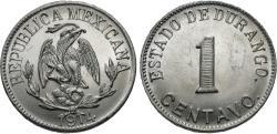 World Coins - Mexico (Revolutionary), Durango. 1914. 1 centavo. Gem BU, amazingly sharp strike with cartwheel luster.