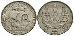 World Coins - Portugal. 1943. 2 1/2 escudos. AU.