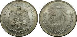 World Coins - Mexico, United States of Mexico. 1935. 50 centavos. BU.