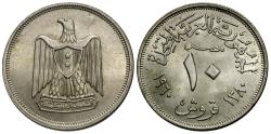 World Coins - Egypt. AH 1380 (1960). 10 piastres. Choice BU.