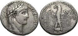 Ancient Coins - Syria, Seleucis and Pieria. Antiochia ad Orontem. Nero. A.D. 54-68. AR tetradrachm. Regnal year 7 and year 109 of the Caesarean Era (A.D. 60/1). VF.