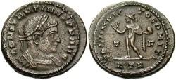 Ancient Coins - Constantine I. A.D. 307-337. Æ follis. Trier, A.D. 316. VF, brown patina, minor porosity. Unusally heavy flan.