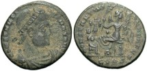 Ancient Coins - Constantine I. A.D. 307/10-337. Æ follis. Constantinople. Fine, dark earthen green patina.