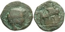 Ancient Coins - Seleukid Kingdom. Antiochos III. 223-187 B.C. Æ. Uncertain mint 73, military associated with Ekbatana, ca. 210 B.C. Fair/Fine, brown patina.