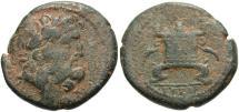 Ancient Coins - Syria, Seleucis and Pieria. Antiochia ad Orontem. Pseudo-autonomous issue. 1st century A.D. Æ. Good Fine, earthen green patina.