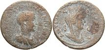 Ancient Coins - Syria, Seleucis and Pieria. Antiochia ad Orontem. Philip II. As Caesar, A.D. 244-247. Æ 8 assaria. Fine, sandy brown patina.