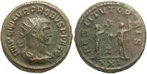 Ancient Coins - Probus. A.D. 276-282. Æ antoninianus. Antioch. Near VF, brown patina.