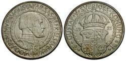 World Coins - Sweden. Gustav V. 1921. 2 kronor. 400th Anniversary of Political Liberty. Unc.