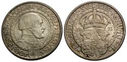 World Coins - Sweden. Gustav V. 1921. 2 kronor. 400th Anniversary of Political Liberty. Unc., light toning.