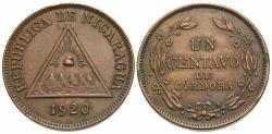 World Coins - Nicaragua. 1920. 1 centavo. EF.