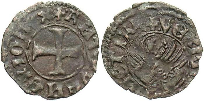 World Coins - Italy, Venice. Antonio Venier. Doge, 1382-1400. BI tornesello. VF.