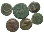 Ancient Coins - [Roman Imperial] Lot of six bronzes, 1st to 3rd centuries. Average Fair to Fine. Includes several better reverse types.