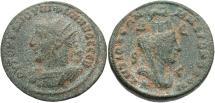 Ancient Coins - Syria, Seleucis and Pieria. Antiochia ad Orontem. Philip II. A.D. 247-249. Æ 8 assaria. Good fine, light eathen green patina.