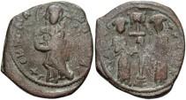 Ancient Coins - Constantine X Ducas. 1059-1067. Æ follis. Constantinople. VF, brown patina.
