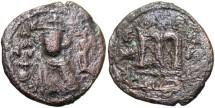 World Coins - Arab-Byzantine. Æ fals. VF, brown patina, porous.