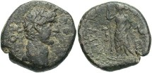 Ancient Coins - Judaea, Ascalon. Domitian. A.D. 81-96. Æ. Good Fine, sandy green-black patina.