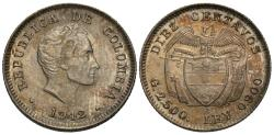 World Coins - Colombia. 1942-B. 10 centavos. Unc.