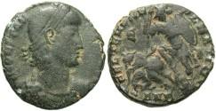 Ancient Coins - Constantius II. A.D. 337-361. Æ centenionalis. Antioch. Fine, dark green patina.