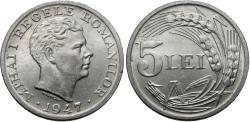 World Coins - Romania. Mihai I. 1947. 5 lei. BU.