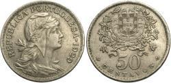 World Coins - Portugal. 1929. 50 centavos. EF.