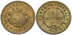 World Coins - Costa Rica. 1936. 5 centimos. AU.