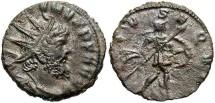Ancient Coins - Postumus. Romano-Gallic Emperor, A.D. 260-269. Æ double denarius. Mediolanum, under Aureolus, A.D. 267. VF, dark brown patina.