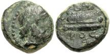 Ancient Coins - Phoenicia, Arados. 84/3-83/2 B.C. Æ. Civic year 176 (84/3 B.C.) VF, green patina. Very rare.