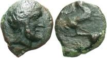 Ancient Coins - Sicily, Solous. Ca. 406-397 B.C. Æ. VF, black patina.