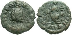 Ancient Coins - Aelia Eudoxia. Augusta, A.D. 400-404. Æ. Alexandria. Fine, dark green-brown patina.