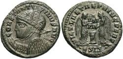 Ancient Coins - Constantine I. A.D. 307/10-337. Æ follis. Siscia, A.D. 319. Good VF, some edge roughness.