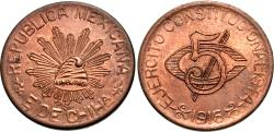 World Coins - Mexico (Revolutionary), Chihuahua. 1915. 5 centavos. BU.