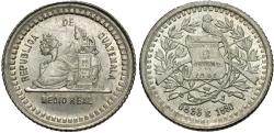 World Coins - Guatemala. 1880/770. 1/2 real. BU.