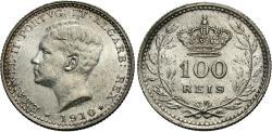 World Coins - Portugal. Emmanuel II. 1910. 100 reis. Unc.