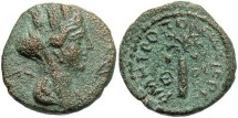 Ancient Coins - Phoenicia, Tyre. Pseudo-autonomous issue. 2nd century A.D. Æ. Year 279 (A.D. 153/4). Good VF, brassy-brown and green patina, a little porous.