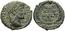 Ancient Coins - Constans. A.D. 337-350. Æ nummus. Antioch, A.D. 347/8. Good VF, dark green patina with light earthen highlights.