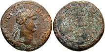 Ancient Coins - Syria, Seleucis and Pieria. Antiochia ad Orontem. Trajan. A.D. 98-117. Æ 27 mm. Rome, for use in Syria. VF, reverse rough.