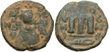 World Coins - Arab-Byzantine. Æ fals. Emisa. Fine, earthen brown patina.
