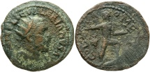 Ancient Coins - Phoenicia, Tyre. Valerian I. A.D. 253-260. Æ. Good Fine, dark green-brown patina, roughness.