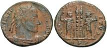 Ancient Coins - Constantine I. A.D. 307/10-337. Æ follis. Rome. VF, earthen brown patina.