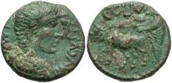 Ancient Coins - Phoenicia, Berytus. Augustus. 27 B.C.-A.D. 14 Æ. VF, green patina, deposits.