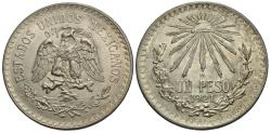 World Coins - Mexico, United States of Mexico. 1921-M. 1 Peso. EF.