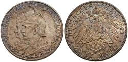 World Coins - German States, Prussia. Wilhelm II. 1901. 2 mark. 200th anniversary of the Kingdom of Prussia. Unc., nicely toned.
