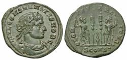 Ancient Coins - Constantius II. As Caesar, A.D. 324-337. ' follis. Arelate, A.D. 332. Good VF, pleasing green patina.