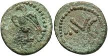 Ancient Coins - Phoenicia, Berytus. Augustus. 27 B.C.-A.D. 14 Æ 15 mm. VF, light green patina.