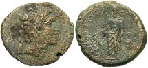 Ancient Coins - Seleukid Kingdom. Alexander I Balas. 152/1-145 B.C. Æ. Berytos. Fine, rough brown patina.