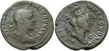 Ancient Coins - Syria, Seleucis and Pieria. Antiochia ad Orontem. Philip I. A.D. 244-249. Æ 8 assaria. Fine, gray-brown patina, porosity.