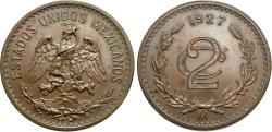 World Coins - Mexico, United States of Mexico. 1927. 2 centavos. Unc.